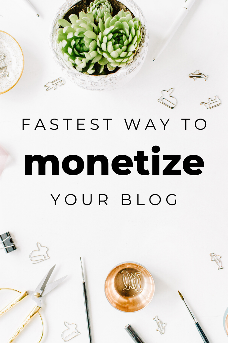 fast ways to monetize a blog
