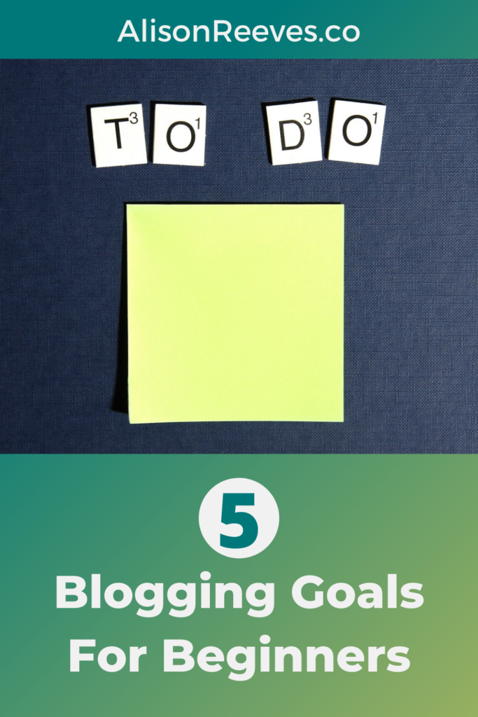 blogging goals for beginners