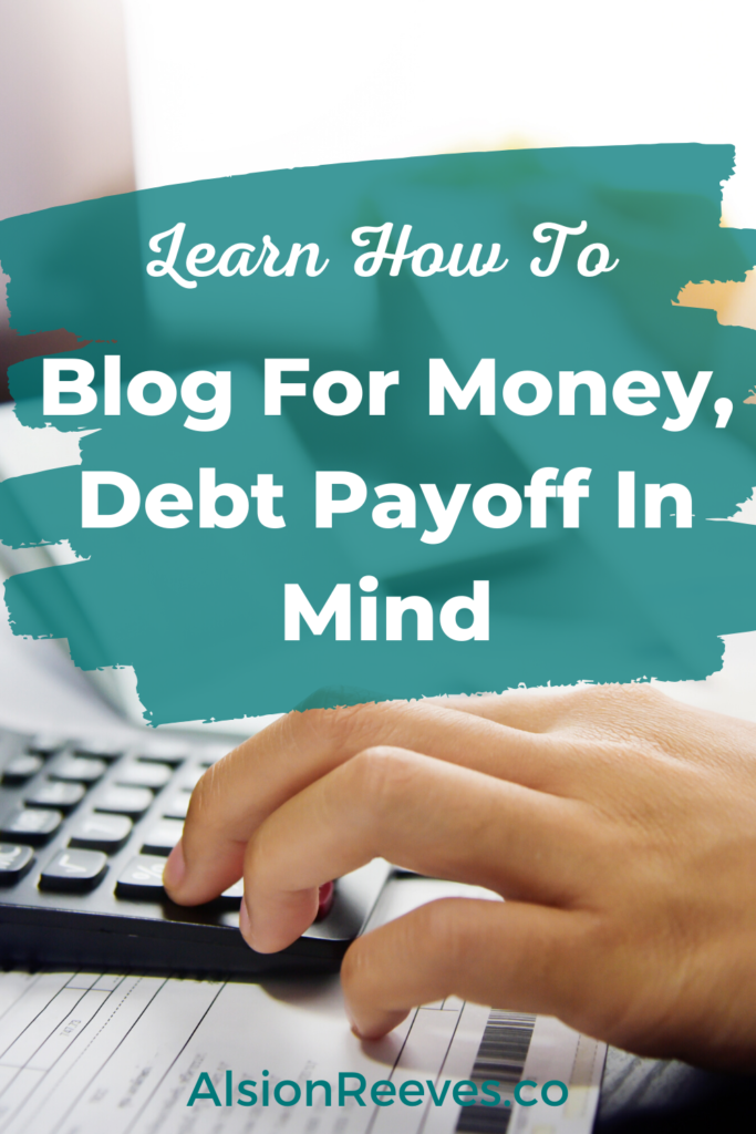 blog for money debt payoff
