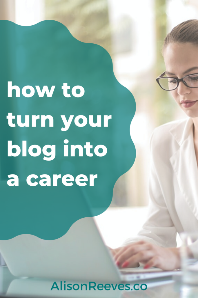 how to turn your blog into a career