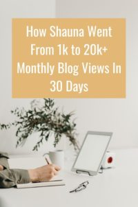 How Shauna increased her blog traffic