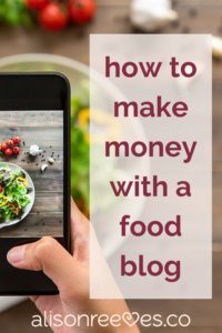 How Hannah started her food blog and made her first $1000.