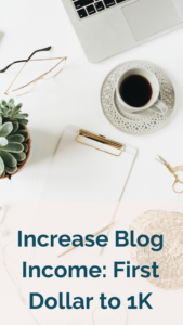 How successful bloggers increased their blog income from the first dollar to 1K.